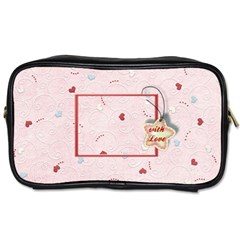 With Love   Pink By Daniela   Toiletries Bag (two Sides)   Pjgltlf0c1xl   Www Artscow Com Front
