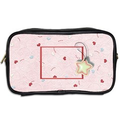 With Love   Pink By Daniela   Toiletries Bag (two Sides)   Pjgltlf0c1xl   Www Artscow Com Back