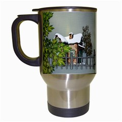 Botanical Wonderland Travel Mug By Lisa Minor   Travel Mug (white)   0vfonab4lw27   Www Artscow Com Left