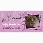 8x4 Birth Announcement Card Girl - 4  x 8  Photo Cards