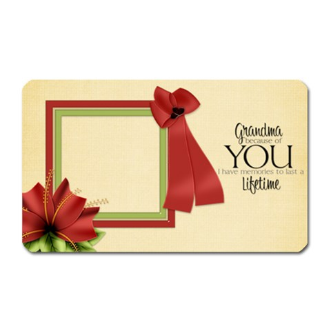 Happy Holidays Grandma Magnet By Lisa Minor   Magnet (rectangular)   M4oz3lla0jr8   Www Artscow Com Front
