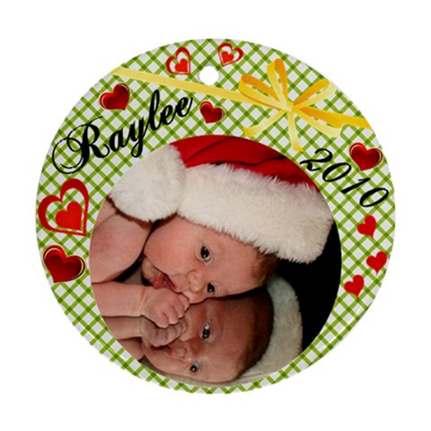 Raylee Ornament By Catherine   Ornament (round)   C11fzte1ke3v   Www Artscow Com Front