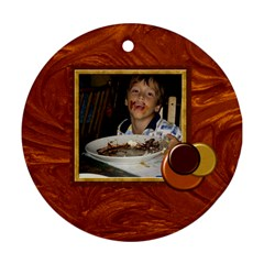 Who Doesn t Love Chocolate? Bakers Dozen Ornament 1 By Lisa Minor   Round Ornament (two Sides)   Eivtmp6zhlgr   Www Artscow Com Front
