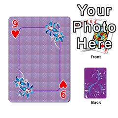 Playing Cards 54 Designes By Galya   Playing Cards 54 Designs   W4hxokdrgd58   Www Artscow Com Front - Heart9