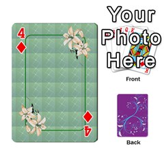 Playing Cards 54 Designes By Galya   Playing Cards 54 Designs   W4hxokdrgd58   Www Artscow Com Front - Diamond4