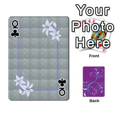 Queen Playing Cards 54 Designes By Galya   Playing Cards 54 Designs   W4hxokdrgd58   Www Artscow Com Front - ClubQ