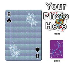 Playing Cards 54 Designes By Galya   Playing Cards 54 Designs   W4hxokdrgd58   Www Artscow Com Front - Spade8