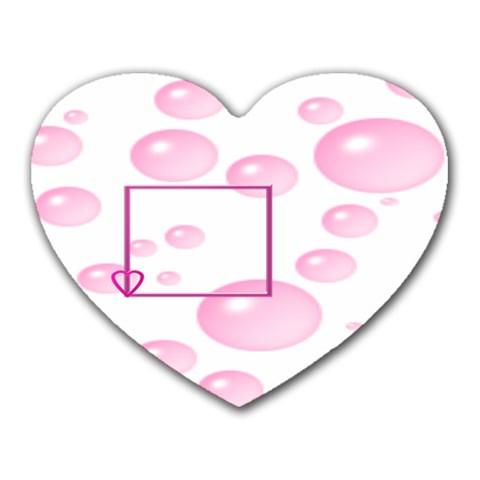 Bubbles By Daniela   Heart Mousepad   R5r6n7w2f4d2   Www Artscow Com Front