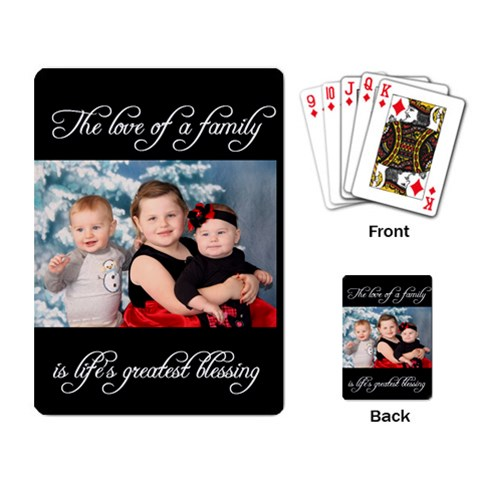 Life s Greatest Blessing Layout By Racheal    Playing Cards Single Design   Oxu14ua107vz   Www Artscow Com Back