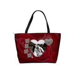 Love Birds Shoulder Handbag By Lil    Classic Shoulder Handbag   Dks7n89a4a31   Www Artscow Com Back