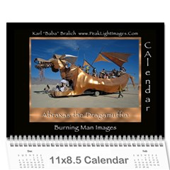 Burning Man Art And Cars 2011 By Karl Bralich   Wall Calendar 11  X 8 5  (12 Months)   2a0z0fp67cjc   Www Artscow Com Cover