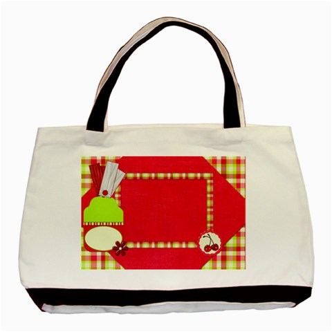 Cherry Slush Tote By Lisa Minor   Basic Tote Bag   Qqtmflho4ay3   Www Artscow Com Front