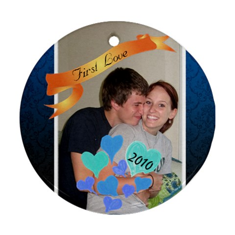Sam And Kelsey By Tamara Glass   Ornament (round)   P8rx86lognz4   Www Artscow Com Front
