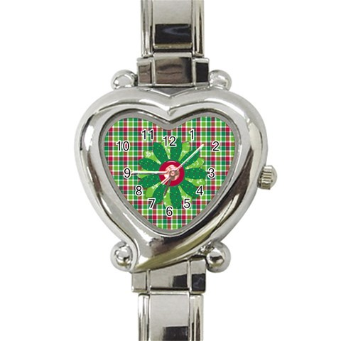 Merry And Bright Heart Watch 1 By Lisa Minor   Heart Italian Charm Watch   Kzw9wlpcq4bu   Www Artscow Com Front