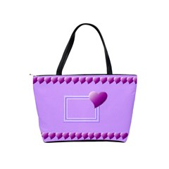 Purple Hearts Bag By Daniela   Classic Shoulder Handbag   Ufretekzt1u8   Www Artscow Com Back