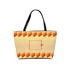 Orange Hearts Bag By Daniela   Classic Shoulder Handbag   Hxyn9dgmvl2p   Www Artscow Com Back