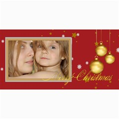 Merry Christmas By Wood Johnson   4  X 8  Photo Cards   13dv4jwe5or7   Www Artscow Com 8 x4 Photo Card - 4