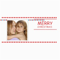 Merry Christmas By Wood Johnson   4  X 8  Photo Cards   1htpqdmg0411   Www Artscow Com 8 x4 Photo Card - 1