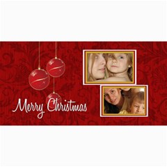Merry Christmas By Wood Johnson   4  X 8  Photo Cards   2ebl4bues4dc   Www Artscow Com 8 x4 Photo Card - 3