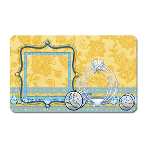 Ella In Blue Magnet 1 By Lisa Minor   Magnet (rectangular)   5e2oup9h253c   Www Artscow Com Front