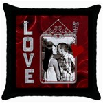 Valentine Love Throw Pillow Case - Throw Pillow Case (Black)