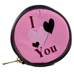 Luv U Mini Purse For Valentines Day By Danielle Christiansen   Mini Makeup Bag   F4o04juhpkhc   Www Artscow Com Back