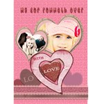 my cup runneth over with love card - Greeting Card 5  x 7