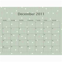 Calendar Eliza By Damaris   Wall Calendar 11  X 8 5  (12 Months)   2xl3v7zar1u4   Www Artscow Com Dec 2011