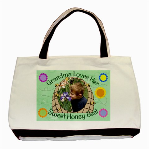 Grandma s Sweet Honey Bee By Chere s Creations   Basic Tote Bag   5gytsctdaqwb   Www Artscow Com Front