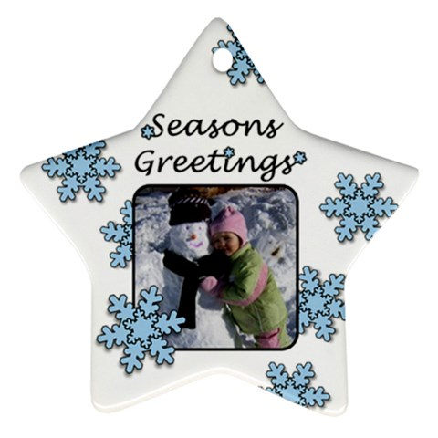 Seasons Greetings By Amanda Bunn   Ornament (star)   Exquf4dwy7zz   Www Artscow Com Front