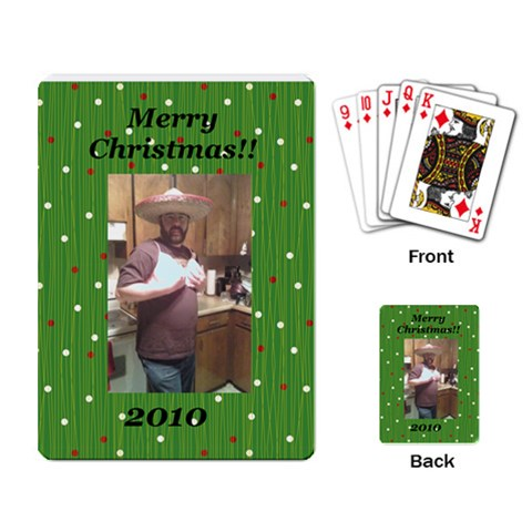 Santas White Christmas Pic By Angie Mccarson   Playing Cards Single Design   M7vzo5y7910w   Www Artscow Com Back