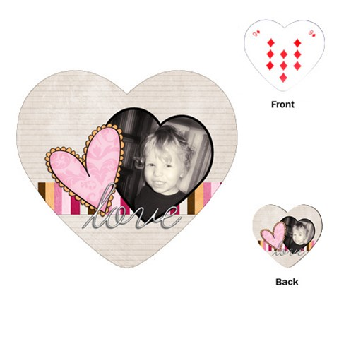 Love Valentine Heart Playing Cards By Sheena   Playing Cards (heart)   Qqajs3igced5   Www Artscow Com Front