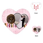 Kiss Valentine Heart Playing Cards - Playing Cards (Heart)