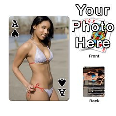 Ace Bikini Cards By Kesma   Playing Cards 54 Designs   Kx3ygishvibr   Www Artscow Com Front - SpadeA
