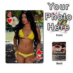 Bikini Cards By Kesma   Playing Cards 54 Designs   Kx3ygishvibr   Www Artscow Com Front - Heart4