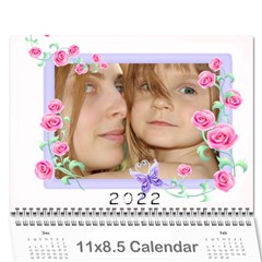 Flower Calendar By Wood Johnson   Wall Calendar 11  X 8 5  (12 Months)   Nncthkbwp072   Www Artscow Com Cover