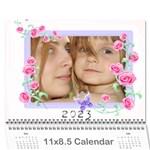 flower calendar - Wall Calendar 11  x 8.5  (12-Months)
