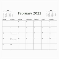 Flower Calendar By Wood Johnson   Wall Calendar 11  X 8 5  (12 Months)   Nncthkbwp072   Www Artscow Com Feb 2019