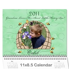 Grandma Loves Her Sweet Honey Bee2 2011 By Chere s Creations   Wall Calendar 11  X 8 5  (12 Months)   5aaxfgqa7ona   Www Artscow Com Cover