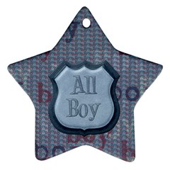 Small Fry 2 Sided Star Ornament By Lisa Minor   Star Ornament (two Sides)   646kjgjqo0qs   Www Artscow Com Back
