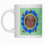 Grandma s Sweet Honey Bees Mug Green 2 - White Mug