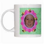 Grandma s Sweet Honey Bees Mug Green 3 - White Mug