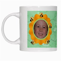Grandma s Sweet Honey Bees Mug Green 4 By Chere s Creations   White Mug   Iifb6zjy7xo8   Www Artscow Com Left