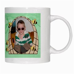 Grandma s Sweet Honey Bees Mug Green 4 By Chere s Creations   White Mug   Iifb6zjy7xo8   Www Artscow Com Right