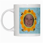 Grandma s Sweet Honey Bees Mug Blue 4 - White Mug