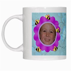 Grandma s Sweet Honey Bees Mug Blue 3 By Chere s Creations   White Mug   Oq9ruyrae4i0   Www Artscow Com Left