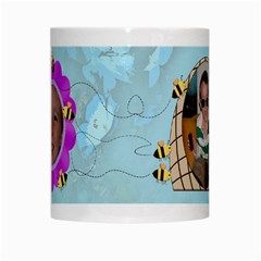 Grandma s Sweet Honey Bees Mug Blue 3 By Chere s Creations   White Mug   Oq9ruyrae4i0   Www Artscow Com Center