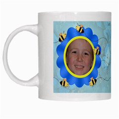 Grandma s Sweet Honey Bees Mug Blue 2 By Chere s Creations   White Mug   Xggeghlngwao   Www Artscow Com Left
