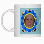 Grandma s Sweet Honey Bees Mug Blue 2 - White Mug