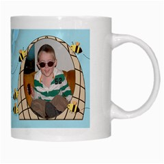 Grandma s Sweet Honey Bees Mug Blue 2 By Chere s Creations   White Mug   Xggeghlngwao   Www Artscow Com Right